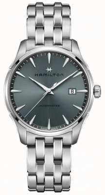Hamilton | jazzmaster | pulseira de aço inoxidável | mostrador preto / cinza | H32451142