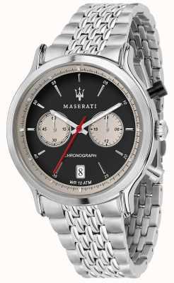 Maserati | epoca racing 42mm | pulseira de aço inoxidável | mostrador preto R8873638001