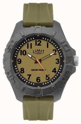 Limit | mens adulto ativo analógico | pulseira de borracha verde | 5753.01