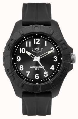Limit | mens adulto ativo analógico | pulseira de borracha preta | 5754.01