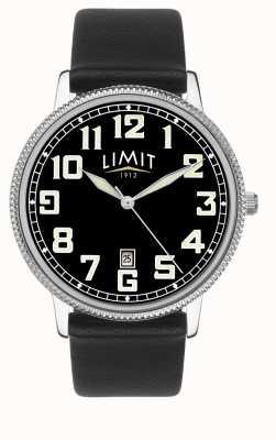 Limit | pulseira de couro preto mens | mostrador preto | 5747.01