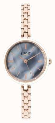 Limit | pulseira de ouro rosa para mulher | mostrador azul | 60064.01