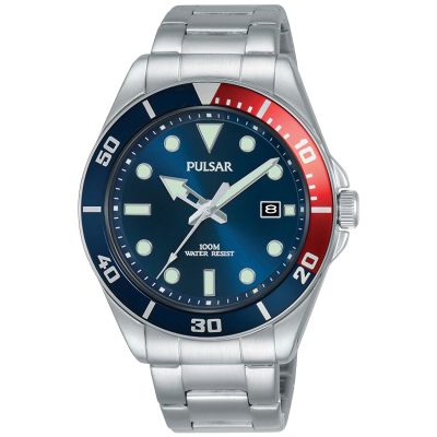 Pulsar | esporte casual | pulseira de aço inoxidável | mostrador azul | PG8291X1