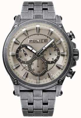 Police | mens taman | pulseira de aço inoxidável | mostrador cinzento do gunmetal 15920JSQU/20M