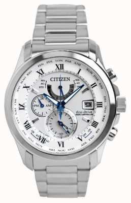 Citizen | tempo de mundo de eco-passeio de mens a | pulseira de aço inoxidável | AT9081-89A