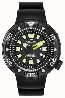 Citizen | mens eco-drive promaster diver | pulseira de borracha preta | BN0175-01E