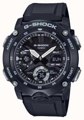 Casio | protetor de núcleo de carbono g-shock | pulseira de borracha preta | GA-2000S-1AER