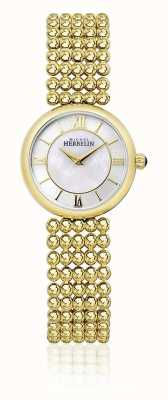 Michel Herbelin | mulheres perle | pulseira de tom de ouro | mãe de discagem pérola | 17483/BP19