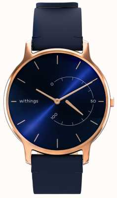 Withings Move timeless chic - couro azul, ouro rosa HWA06M-TIMELESS CHIC-MODEL 3-RET-INT