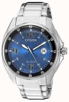 Citizen | mens eco-drive | mostrador azul | pulseira de aço inoxidável | AW1510-54L