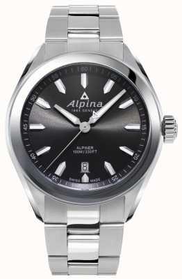 Alpina | alpiner mens | pulseira de aço inoxidável | mostrador cinza | AL-240GS4E6B