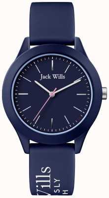 Jack Wills | união das mulheres | mostrador naval | pulseira de silicone da marinha | JW009NVBL