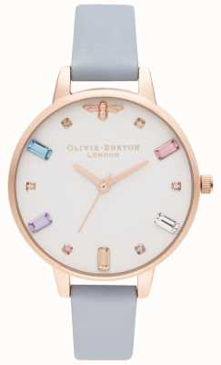 Olivia Burton | mulheres | abelha arco-íris | cinta azul demi giz | OB16RB12