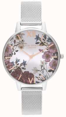 Olivia Burton | mulheres | flores britânicas | pulseira em malha de aço inoxidável | OB16EG133