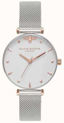 Olivia Burton | mulheres | abelha rainha | pulseira de malha de aço inoxidável | OB16AM140