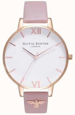 Olivia Burton | mulheres | Abelha 3d | pulseira de couro embelezada | OB16ES15