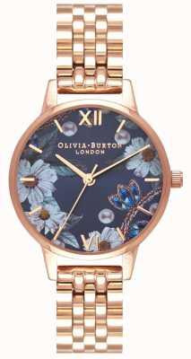 Olivia Burton | mulheres | flores de bejeweled | pulseira de ouro rosa | OB16BF17