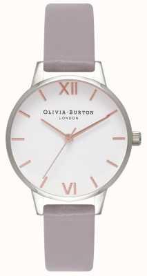 Olivia Burton | mulheres | mostrador branco | pulseira de couro lilás cinza | OB16MDW26