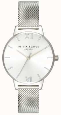 Olivia Burton | mulheres | discagem sunray midi | pulseira de malha de aço | OB16MD86