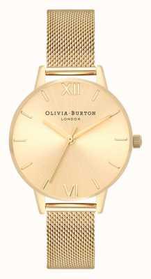 Olivia Burton | mulheres | discagem sunray midi | pulseira de malha de ouro | OB16MD85