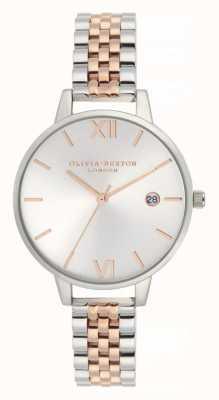 Olivia Burton | mulheres | demi date | pulseira de aço inoxidável de dois tons | OB16DE06