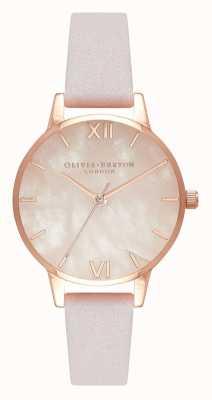 Olivia Burton | mulheres | semi precioso | pulseira de couro em flor | OB16SP02