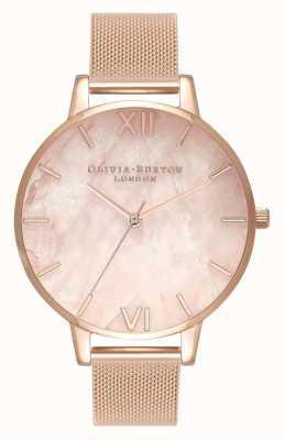 Olivia Burton | mulheres | semi precioso | pulseira de malha de ouro rosa | OB16SP01