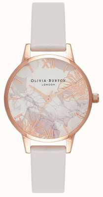 Olivia Burton | mulheres | florais abstratos | pulseira de couro blush | OB16VM12