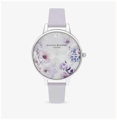 Olivia Burton | mulheres | luz solar florals | pulseira de couro parma violeta | OB16EG137