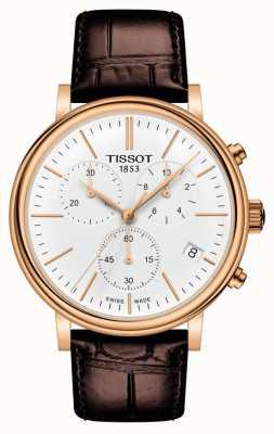 Tissot | Cronógrafo Carson Premium | pulseira de couro marrom | T1224173601100