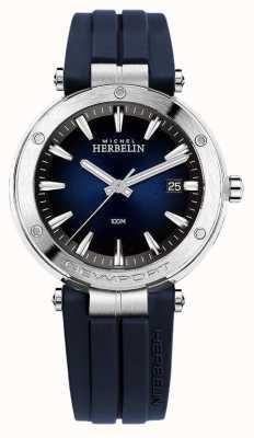 Michel Herbelin | mens | Newport | mostrador azul | borracha | 12288/15CB