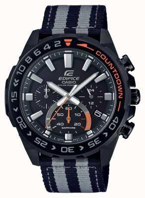 Casio | mens | edifício | premium | pulseira preta cinza | assistir | EFS-S550BL-1AVUEF