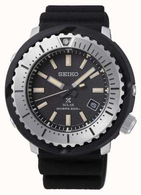 Seiko Prospex solar masculino mostrador preto 200m pulseira preta silv SNE541P1