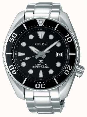 Seiko Prospex masculino sumo automático pulseira de aço inoxidável mostrador preto SPB101J1