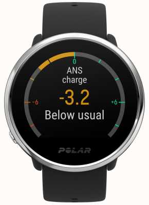 Polar | acender | atividade e rastreador de hora | borracha preta | s | 90071065
