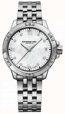 Raymond Weil | tango para mulher | dial de diamante | pulseira de aço inoxidável 5960-ST-00995