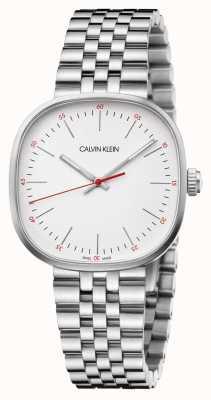 Calvin Klein | pulseira de aço inoxidável mens | mostrador quadrado prateado | K9Q12136