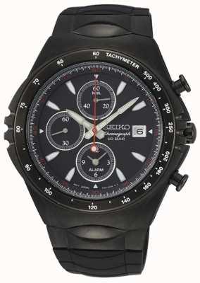 Seiko   série conceitual   cronógrafo de ip preto   relógio desportivo   SNAF87P1
