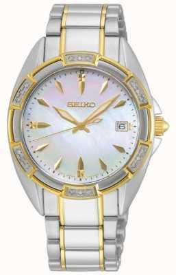 Seiko   série conceitual   mulheres   pulseira de ouro em dois tons   SKK880P1