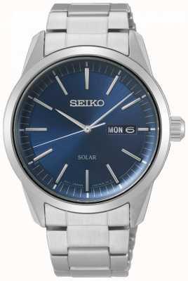 Seiko   série conceitual   solar clássico   mens   mostrador azul   SNE525P1