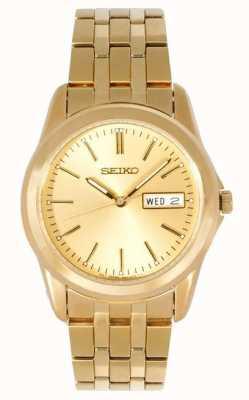 Seiko Relógio de pulseira de ouro para homens SGGA48P1