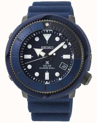 Seiko | prospex diver's | série de ruas | silicone azul marinho | SNE533P1