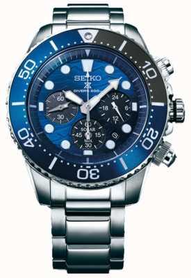 Seiko | prospex diver's | salve o oceano | mostrador cronógrafo azul | SSC741P1