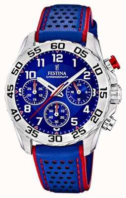 Festina | pulseira de couro azul mens / junior | mostrador azul | F20458/2