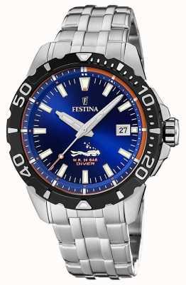 Festina | homens mergulhadores | pulseira de aço inoxidável | mostrador azul | F20461/1