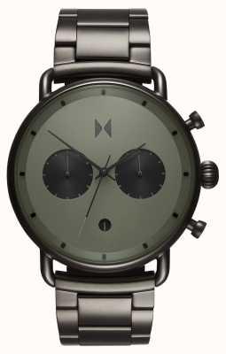 MVMT Blacktop rallye gunmetal verde | pulseira pvd | mostrador verde D-BT01-OLGU