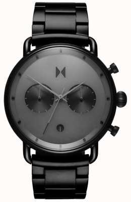 MVMT Blacktop starlight black | pulseira de pvd | mostrador cinza D-BT01-BB