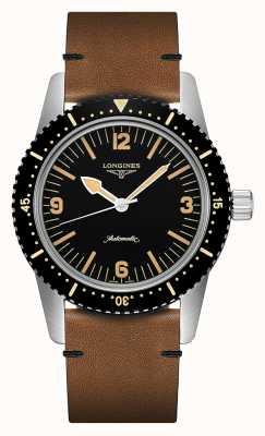 Longines | herança de relógio de mergulhador de pele | de homem | suíço automático | L28224562