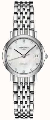 Longines | coleção elegante | 25,5 mm para mulheres | suíço automático | L43094876