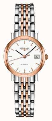 Longines | coleção elegante | 25,5 mm para mulheres | suíço automático | L43095127